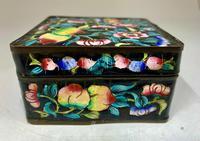 Antique Oriental Cloisonné Enamel Box c.1890 (5 of 8)