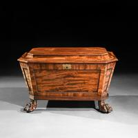 Regency Mahogany Wine Cooler Cellarette of Sarcophagus Form (5 of 10)