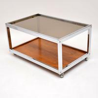 1970's Vintage Rosewood & Chrome Coffee Table by Howard Miller Associates (3 of 8)