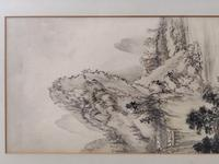 Three Japanese original ink/ watercolour lanscape paintings circa mid. 20th Century (9 of 20)