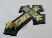 19th Century Champleve Enamel and Bronze Crucifix Holy Water Stoop (4 of 6)