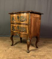 French Walnut Shaped Front Commode Chest (7 of 10)