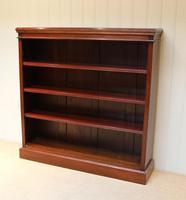 Mahogany Finish Rowan Wood Open Bookcase (8 of 10)