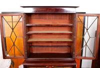 Tall Antique Secretaire Bureau Bookcase Astragal Glazed Mahogany Library Cabinet (8 of 13)