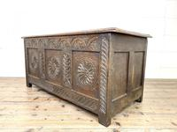 Antique 18th Century Carved Oak Coffer (6 of 10)