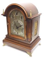 Mahogany & Bevelled Glass W&H Mantel Clock Dual Chiming Musical Bracket Clock Chiming on 9 Coiled Gongs (16 of 17)