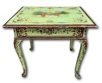 19th Century Painted Occasional Table with Single Drawer