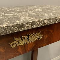 French Empire Marble Top Console Table (6 of 7)