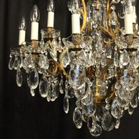 French Gilded Bronze 17 Light Antique Chandelier (2 of 10)