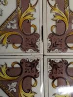 H & R Johnson Autumn Leaves Fireplace Tiles Set of 4 (2 of 4)