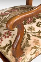 Pair of Beech Wood 17th Century Design Armchairs c.1900 (4 of 6)