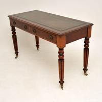 Antique William IV Mahogany  Leather Top Writing Table / Desk (6 of 9)