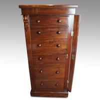 Victorian Mahogany  6 Drawer Wellington Chest (6 of 8)