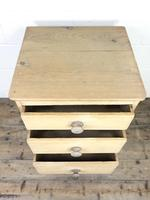 Rustic Pine Three Drawer Pedestal Chest (3 of 9)