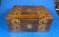 Victorian Walnut Tunbridge Ware P Box (3 of 9)