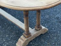 French Bleached Oak Farmhouse Refectory Dining Table (10 of 18)