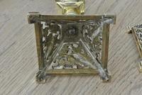 Fine Aesthetic Movement Desk Set Brass Inkwell & Brass Candlesticks c.1880 (9 of 11)