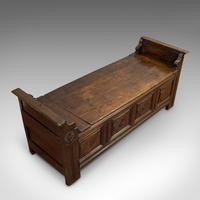 Antique Coffer, French, Oak, Window Seat, Storage Bench c.1700 (6 of 12)