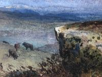 Victorian Scottish Highland Painting of Cattle by Aster Richard Chilton Corbould (9 of 40)