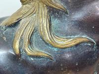 Circa 1920 Gilt Bronze Sporting Pacing Horse Statue Influenced By Giambologna (27 of 42)