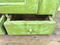 Rustic Antique Green Painted Wall Cupboard (9 of 11)