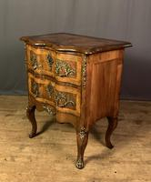 French Walnut Shaped Front Commode Chest (6 of 10)