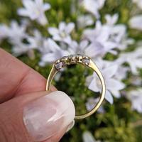 Art Deco 18ct Yellow Gold, Platinum, Ruby & Diamond Trilogy Ring, Antique (3 of 9)
