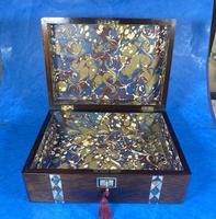 Victorian Rosewood Jewellery Box  With Inlay (14 of 15)