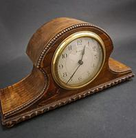 French Wooden Mantel Clock (4 of 5)