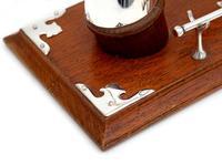 Cow Horn & Oak Decorative Gong with Original Striker (4 of 4)