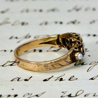 The Antique Victorian 1897 Pink Tourmaline & Seed Pearl Ring (4 of 4)