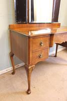 Antique Burr Walnut, Triple Mirror Shaped Dressing Table (3 of 12)