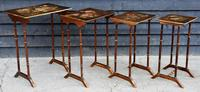 Beautiful Victorian Hand Painted Quartetto of Tables / Nest of Tables c.1900 (4 of 8)