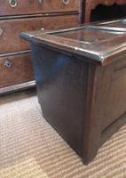 George I Period Oak Six Plank Coffer (4 of 10)