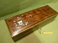 Exquisite French Inlaid – Parquetry Glove – Jewellery Box c.1870 (9 of 11)