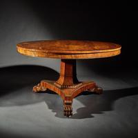Fine Regency Burr Oak Tilt Top Table (6 of 8)