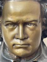 Classical Music Interest German Bronze Composer Ludwig Van Beethoven Bust Sculpture (7 of 25)