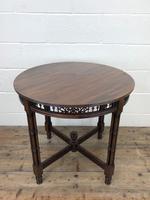 Antique Walnut Circular Centre Table (9 of 10)