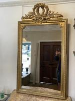 Large antique French gilt mirror (2 of 8)