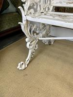 Large White Cast Iron Garden Bench (4 of 6)