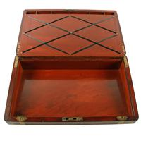 Campaign Style Mahogany Box Desk (5 of 9)