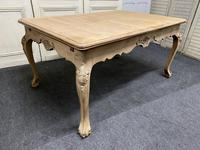 French Bleached Oak Extending Dining Table (16 of 17)