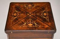 Antique Victorian Inlaid  Rosewood Envelope Card Table (6 of 12)