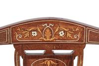 Set of 4 Edwardian Rosewood Inlaid Dining Chairs (3 of 7)