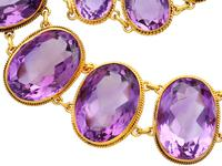 274.91ct Amethyst & 18ct Yellow Gold Rivière Necklace - Antique Victorian (7 of 12)