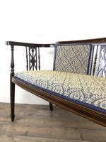Antique Edwardian Mahogany Inlaid Parlour Sofa (9 of 15)