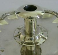 Huge Heavy Mexican Solid Sterling Silver Chamberstick Candlestick Holder c.1930 (3 of 8)