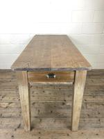 Antique Pitch Pine Table with Drawers (10 of 10)
