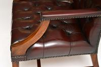 Pair of Antique  Deep  Buttoned Leather Library Armchairs (2 of 12)