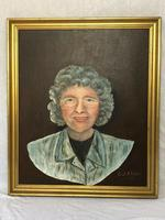 "20th Century Oil Painting Portrait ""Proud Grandmother"" Lady Signed Frank Holland (4 of 13)"